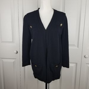 St John Collection Gold Button Cardigan Jacket